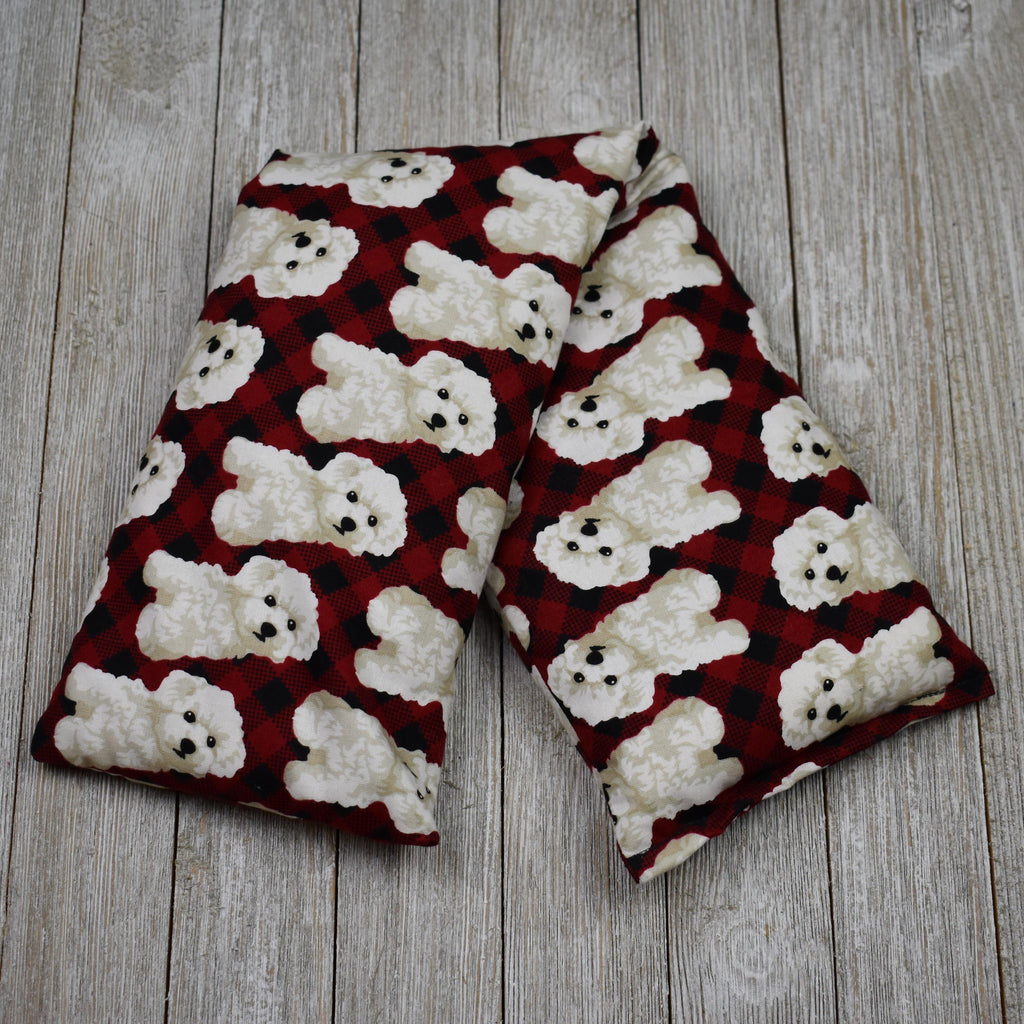 Cherry Pit Heating Pad - Dogs on Red Plaid