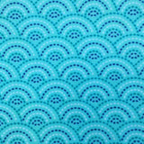 Cherry Pit Heating Pad - Dotted Scallops Aqua Sky