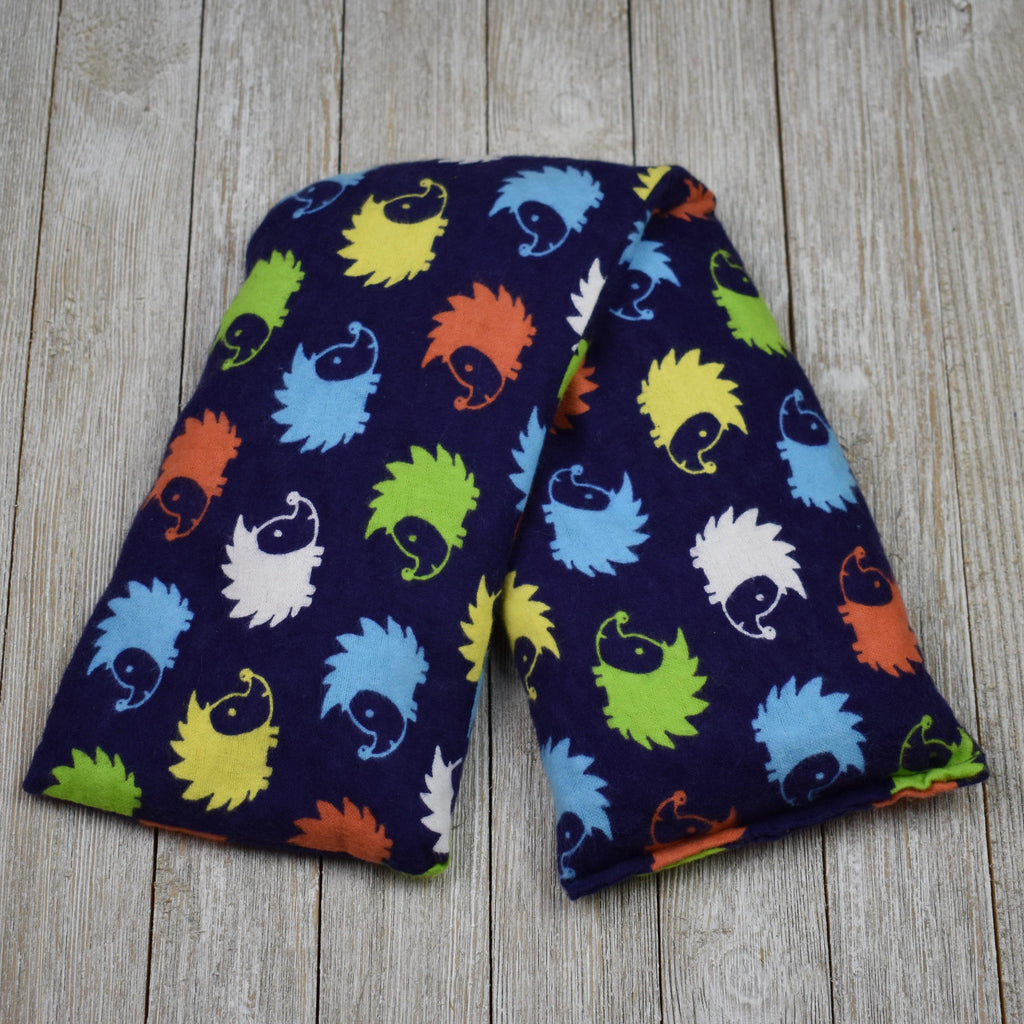 Cherry Pit Heating Pad - Hedgehog Blue