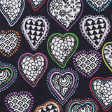 Cherry Pit Heating Pad - Kaleidescope Hearts Bright