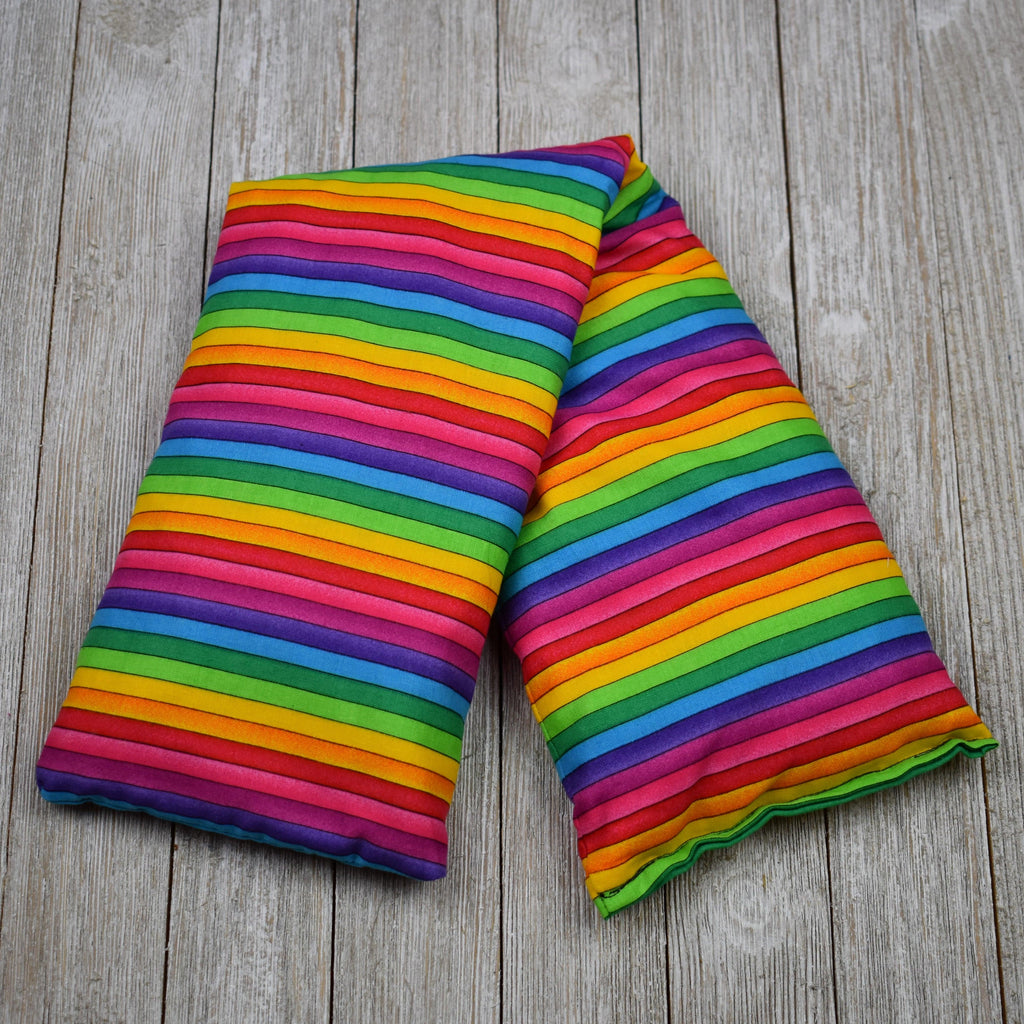 Cherry Pit Heating Pad - Rainbow Stripe