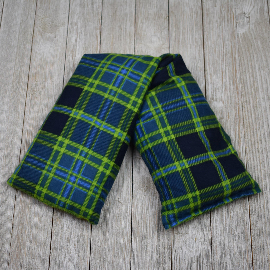 Cherry Pit Heating Pad - Navy Green Plaid