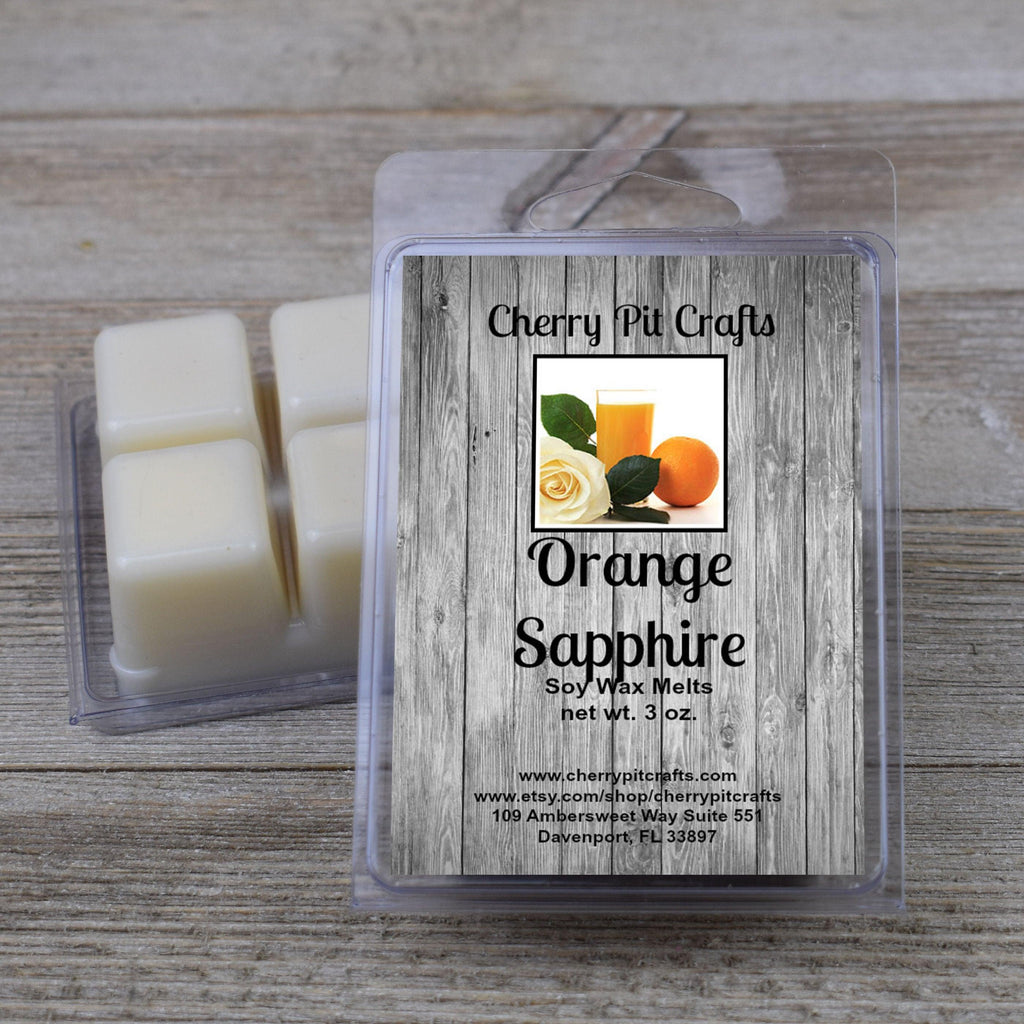 Orange Sapphire Soy Wax Melts