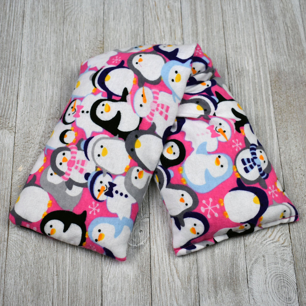 Cherry Pit Heating Pad - Penguins & Snowmen