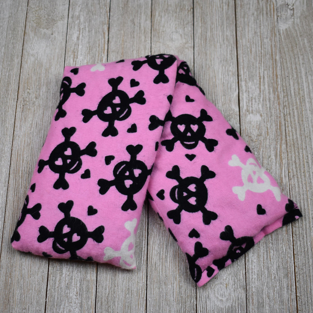 Cherry Pit Heating Pad - Skulls and Hearts