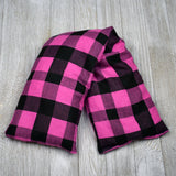 Cherry Pit Heating Pad - Pink Black Buffalo Check
