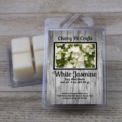 White Jasmine Soy Wax Melts - Cherry Pit Crafts