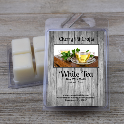 White Tea Soy Wax Melts - Cherry Pit Crafts