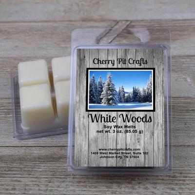 White Woods Soy Wax Melts - Cherry Pit Crafts