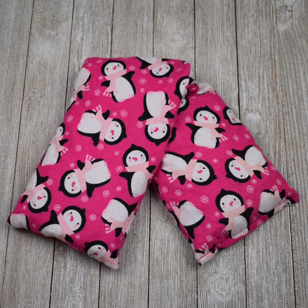 Cherry Pit Heating Pad - Pink Penguins