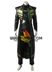 Loki The First Avengers PU Leather Cosplay Costume - Cosrea Cosplay