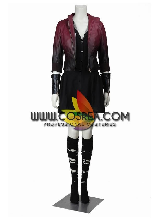 Scarlet Witch Age Of Ultron Gradient Cosplay Costume - Cosrea Cosplay