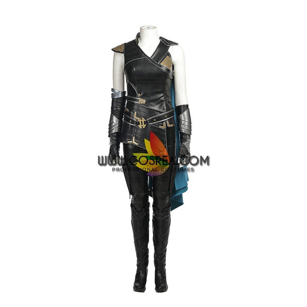 Brunnhilde Valkyrie Sakaar PU Leather Cosplay Costume - Cosrea Cosplay