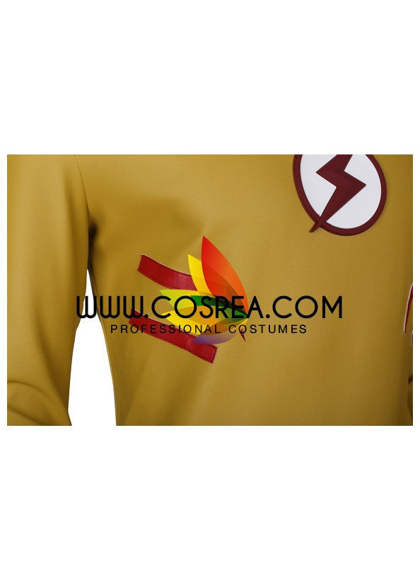 Cosrea Comic Young Justice League Kid Flash Cosplay Costume