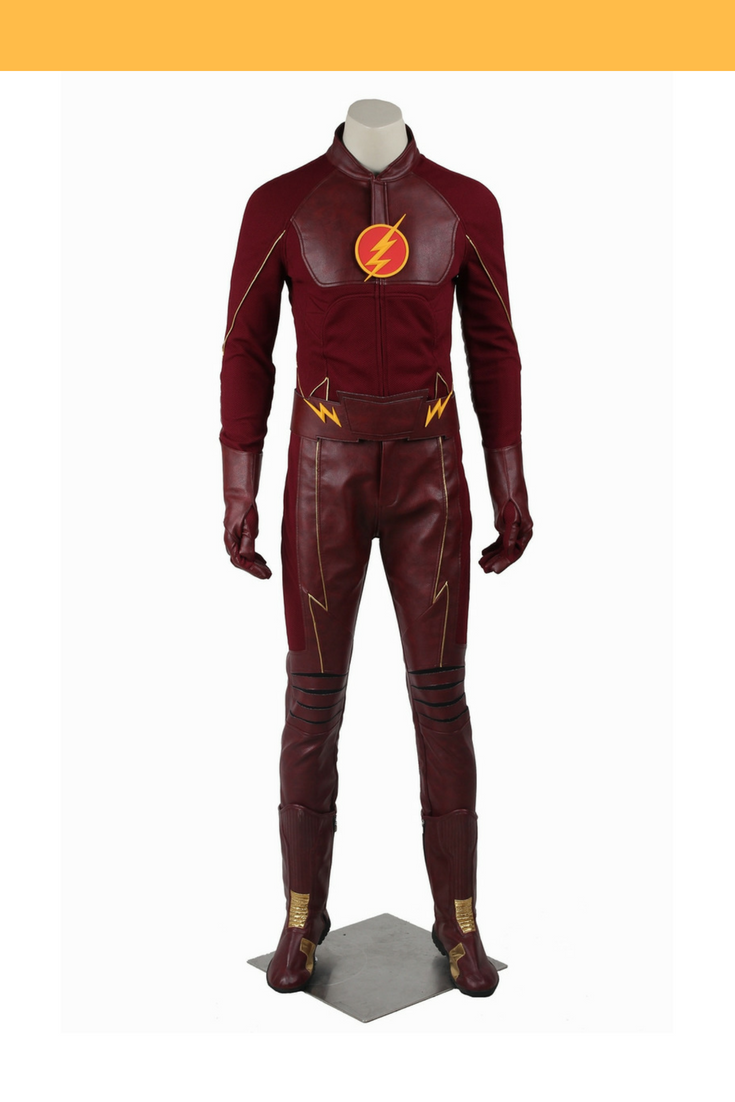 Flash Barry Allen Season 2 Option A Cosplay Costume