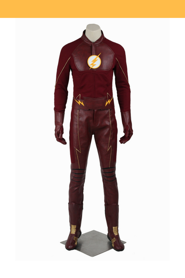 Flash Barry Allen Season 2 Option B Cosplay Costume - Cosrea Cosplay