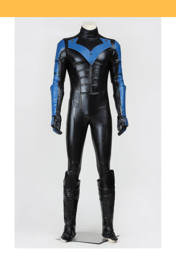 Cosrea DC Universe Nightwing Arkham City Cosplay Costume