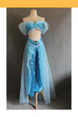 Aladdin Jasmine Sequin Fabric Cosplay Costume