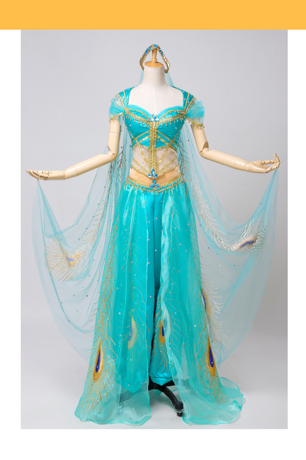 Cosrea Disney Aladdin Live Action Movie Princess Jasmine Embroidered Cosplay Costume