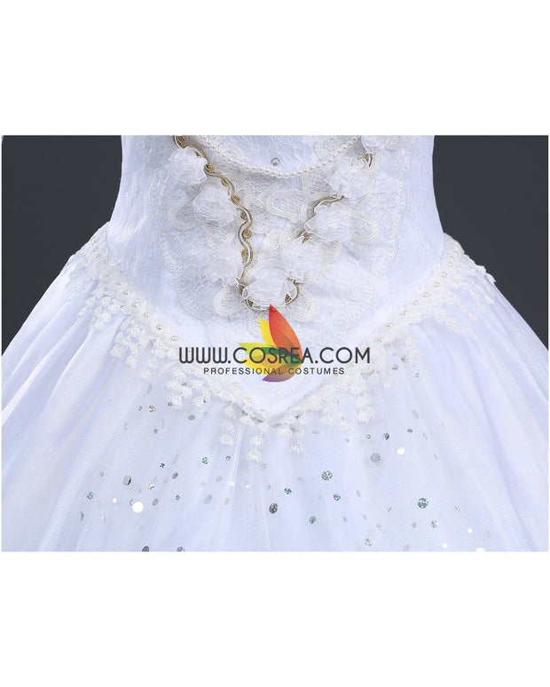 Cosrea Disney Alice In The Wonderland White Queen Cosplay Costume