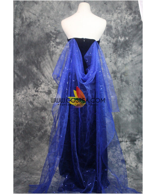 Cosrea Disney Anastasia Navy Blue Formal Evening Gown Cosplay Costume