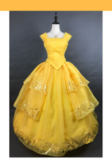 Beauty And Beast 2017 Princess Belle Classic Cosplay Costume - Cosrea Cosplay