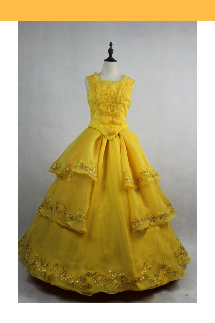 Beauty And Beast 2017 Princess Belle Ruffle Bodice Cosplay Costume