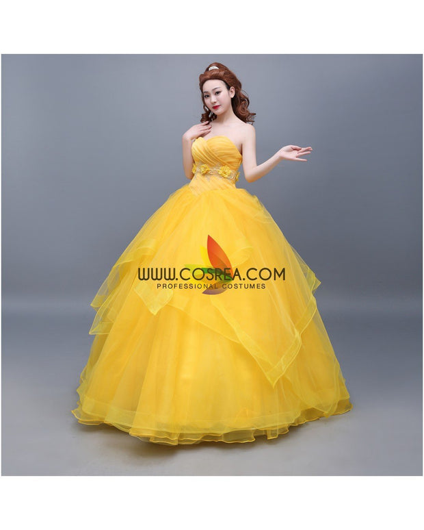 Cosrea Disney Beauty And Beast Belle Classic Basque Style Cosplay Costume
