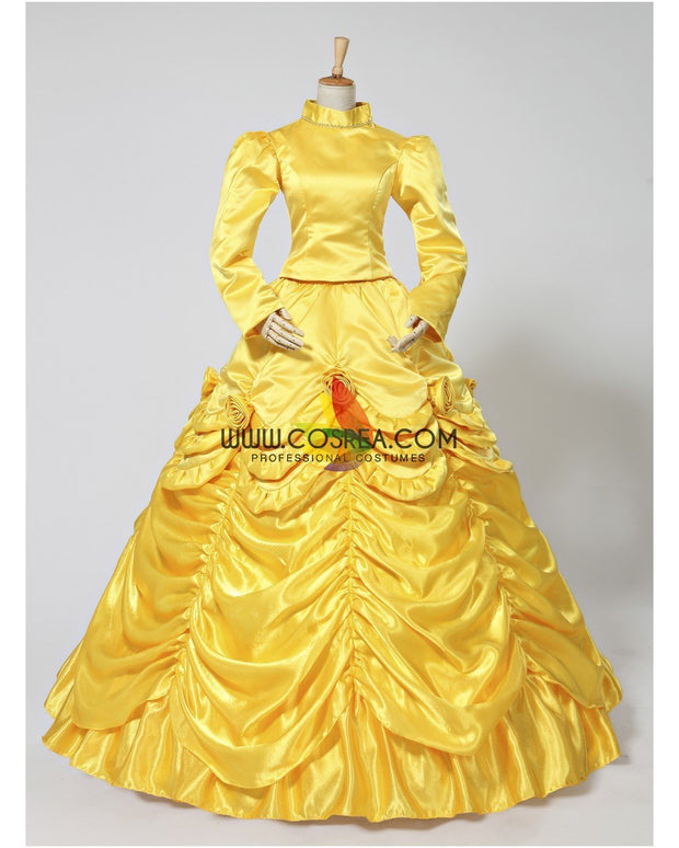 Cosrea Disney Beauty And Beast Belle Classic Winter Cosplay Costume