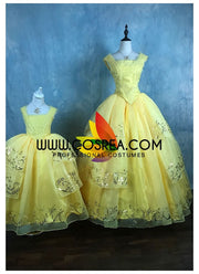 Girls Size Beauty And Beast Belle Live Action Cosplay Costume - Cosrea Cosplay