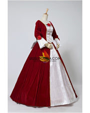 Cosrea Disney Beauty And Beast Belle Velvet Holiday Cosplay Costume