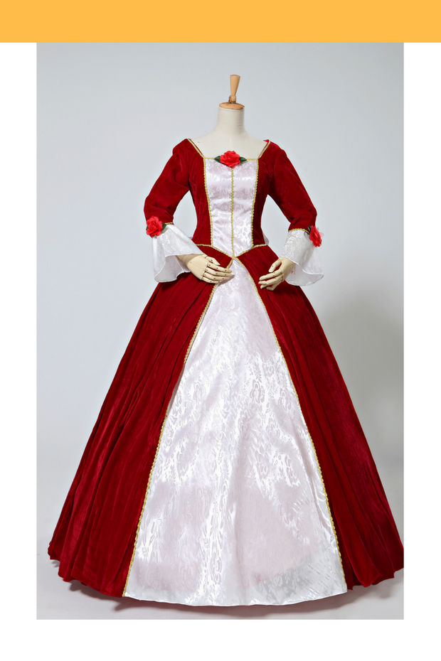 Beauty And Beast Belle Velvet Holiday Cosplay Costume - Cosrea Cosplay
