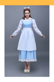 Beauty And Beast Belle Classic Peasant In Satin Cosplay Costume - Cosrea Cosplay