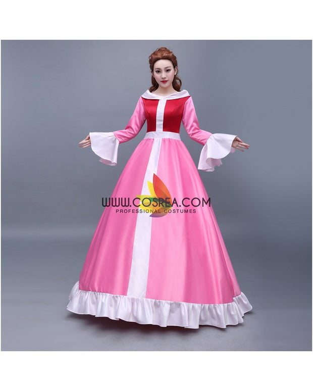 Cosrea Disney Beauty And Beast Classic Belle Winter Cosplay Costume