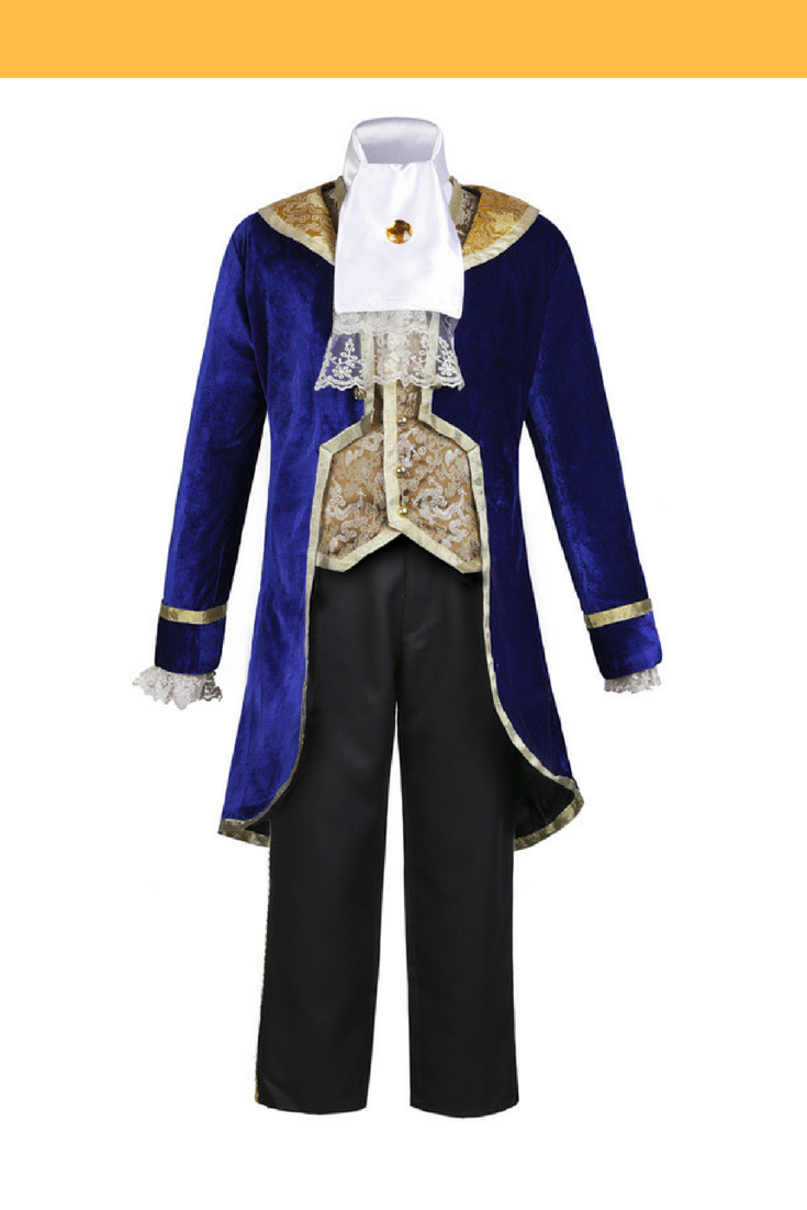 Beauty And Beast Classic Prince Brocade With Velvet Cosplay Costume