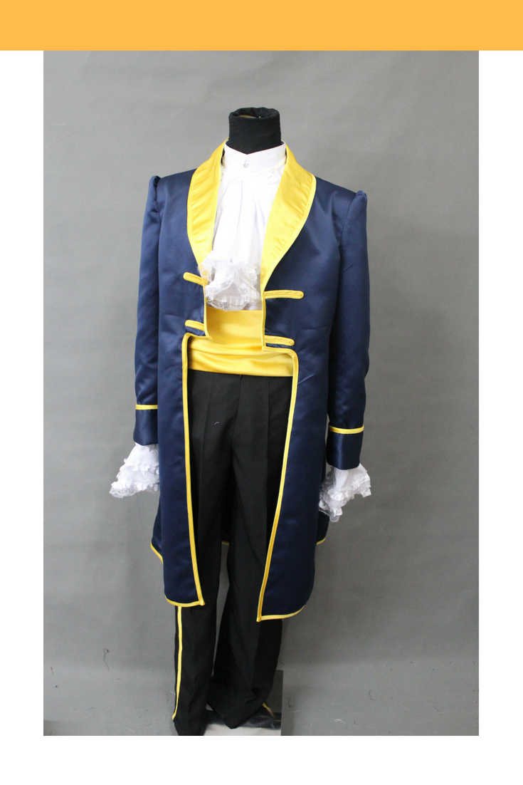Beauty And Beast Classic Prince Navy Blue Cosplay Costume