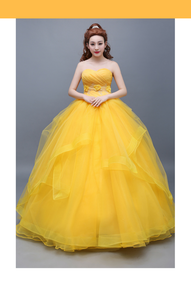 Beauty And Beast Belle Classic Basque Style Cosplay Costume - Cosrea Cosplay
