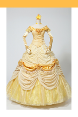 Beauty And Beast Classic Princess Belle Brocade Velvet Cosplay Costume