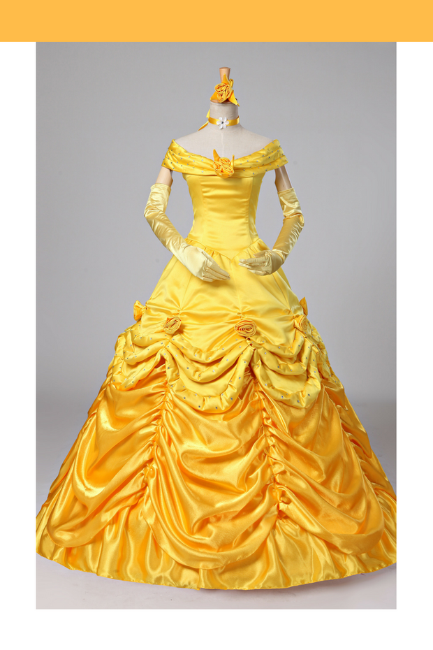 Cosrea Disney Beauty And Beast Classic Princess Belle Disney Park Inspired Cosplay Costume