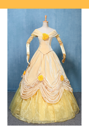 Cosrea Disney Beauty And Beast Classic Princess Belle Velvet Rose Cosplay Costume