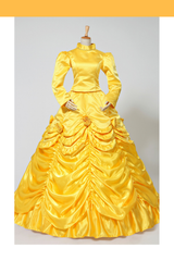 Beauty And Beast Classic Princess Belle Winter Cosplay Costume