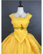 Cosrea Disney Beauty And Beast Live Action Belle Classic Ballgown Cosplay Costume