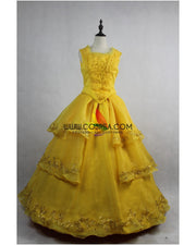 Cosrea Disney Beauty And Beast Live Action Belle Dandelion Yellow Cosplay Costume