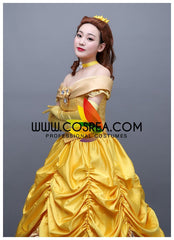 Beauty And Beast Classic Princess Belle Multilayer Tulle Cosplay Costume