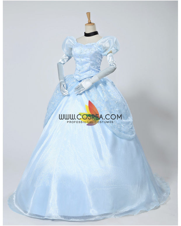 Cosrea Disney Cinderella Classic Ballgown In Floral Overlayer Cosplay Costume