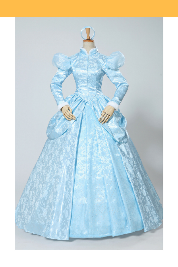 Cinderella Winter Cosplay Costume In Brocade Satin - Cosrea Cosplay