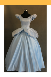 Cosrea Disney Cinderella Classic Scallop Sleeves Cosplay Costume