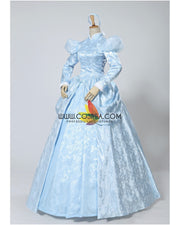Cinderella Winter Cosplay Costume In Brocade Satin