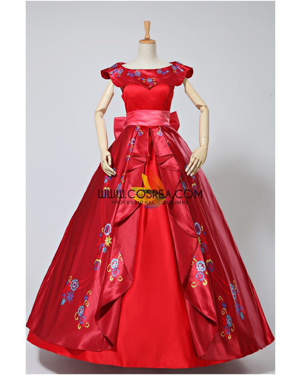 Cosrea Disney Elena Of Avalor Embroidered Regal Cosplay Costume