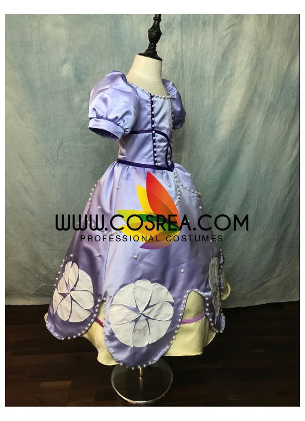 Girls Size First Princess Sofia Cosplay Costume - Cosrea Cosplay